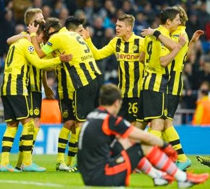 Borussia Dortmund vs Real Madrid Skor 2-0