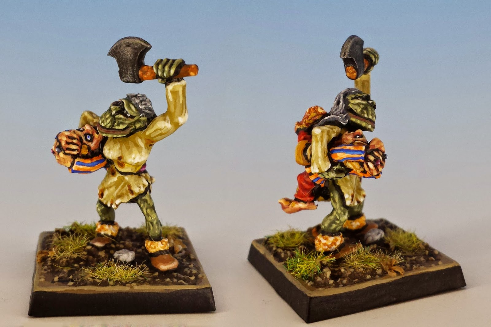 Orc Villager C46, Citadel Miniatures (1988, sculpted by Trish Carden)