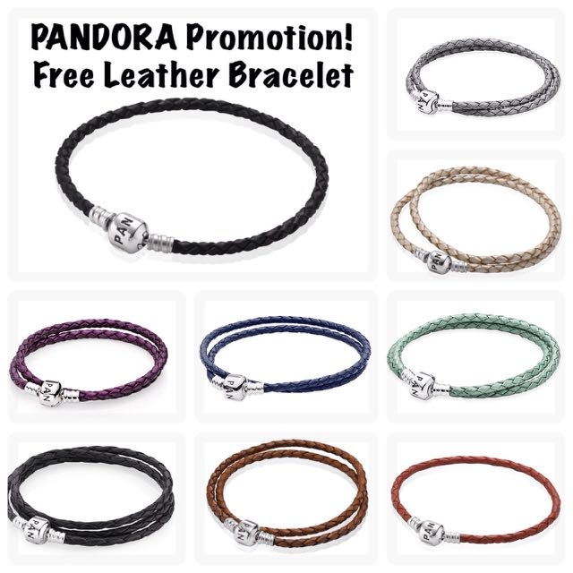Free Pandora Leather Bracelet Promotion