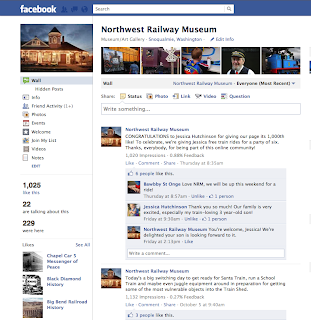 recent still shot of Museum's Facebook wall
