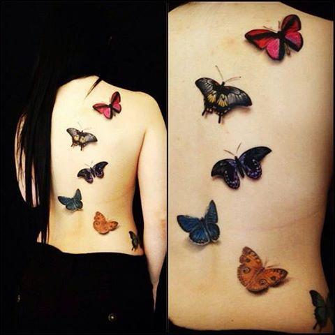 El mejor tatuaje de mariposas