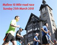 Mallow 10 mile road race...Sun 25th March 2018