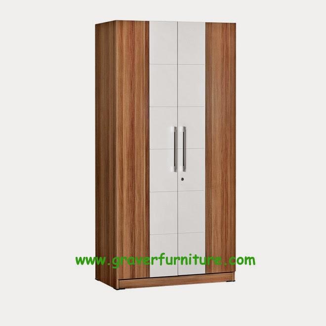 Lemari Pakaian 2 Pintu LP 2795 Graver Furniture