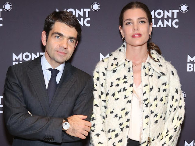 Charlotte Casiraghi a dinner at the President Wilson Hotel