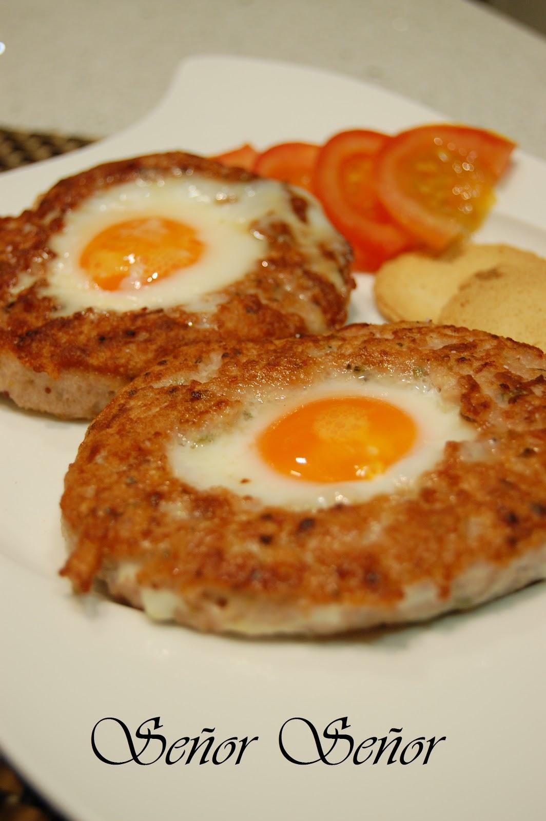 Hamburguesa rellena de huevo frito receta de sergio for Recetas facilisimo