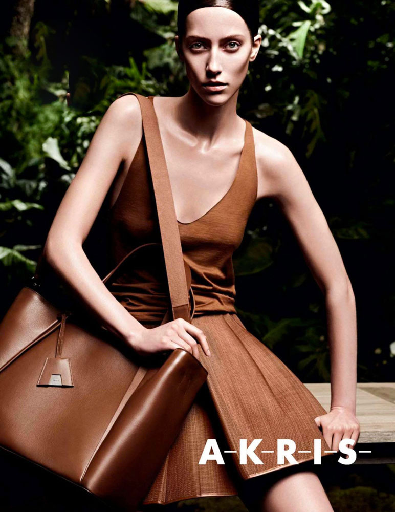 Alana Zimmer in Akris Spring/Summer 2013 campaign (photography: Karim Sadli)