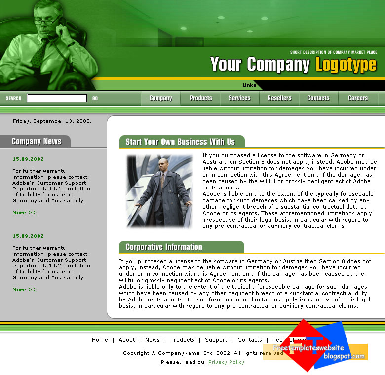 free download template websites template monster 0039