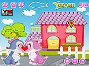 Game mèo hôn nhau, chơi game meo hon nhau online tại GameVui.biz