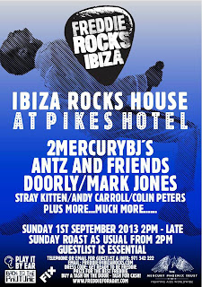 Antz star on the line up at Freddie Rocks Ibiza