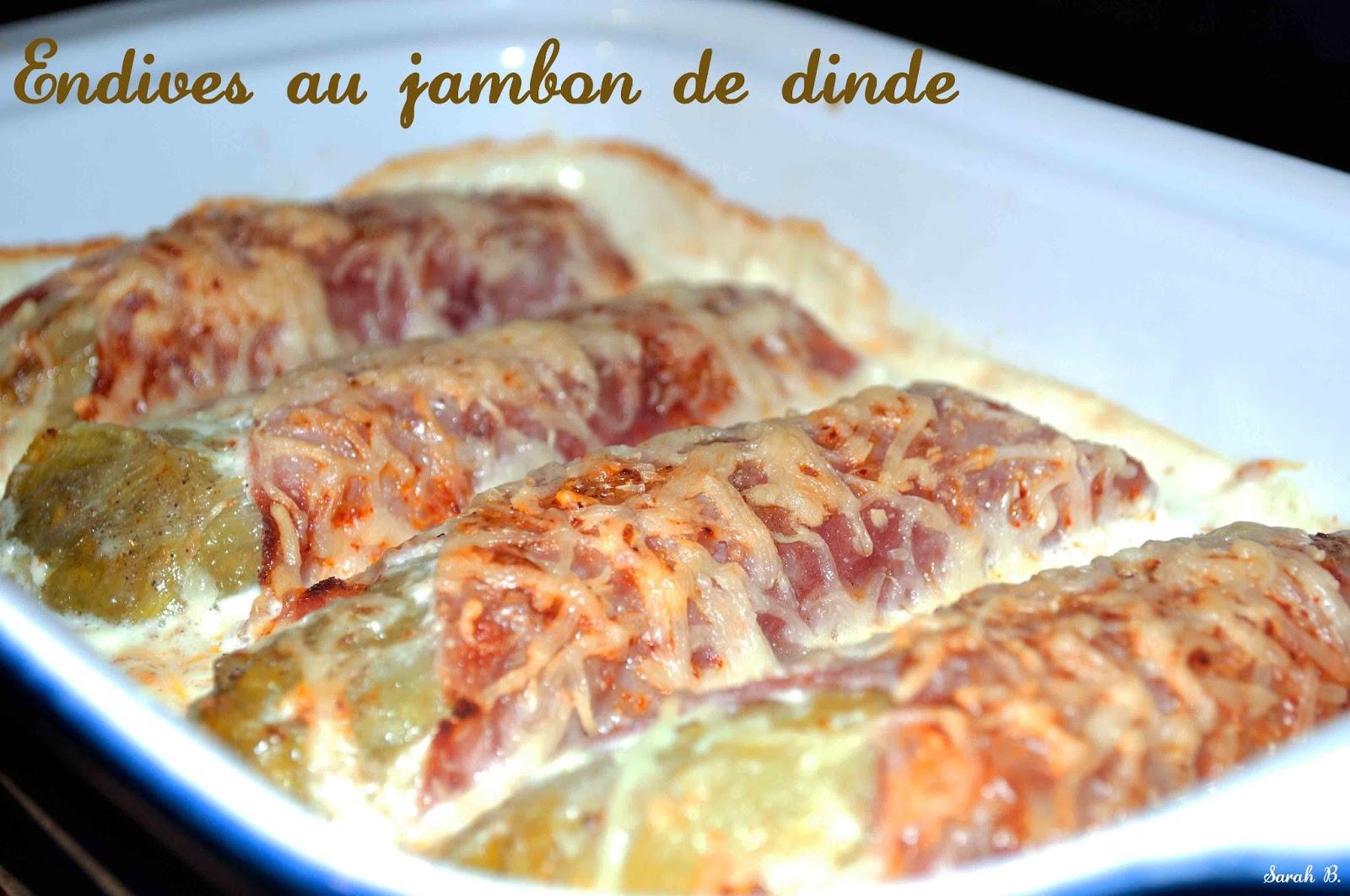 Endives au jambon de dinde blogs de cuisine - Recette endives au jambon ...