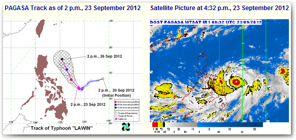 Bagyong Lawin October 2012 Update