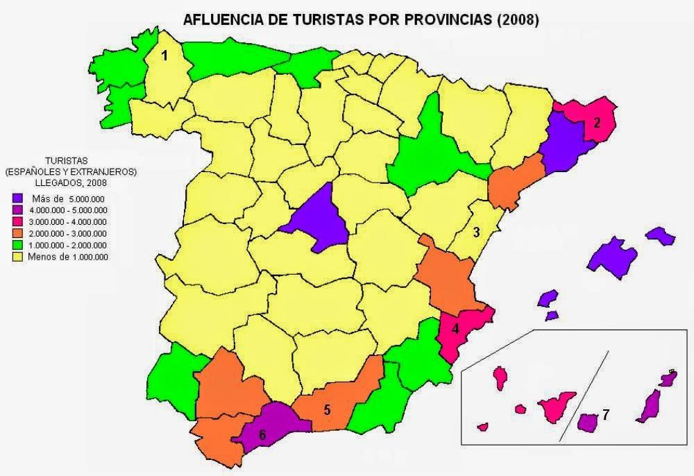 GEOGRAFA DE ESPAA 20152016 PRCTICAS TRANSPORTE Y TURISMO