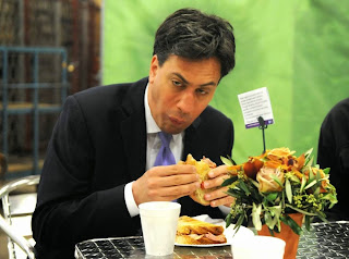 Ed Miliband eating