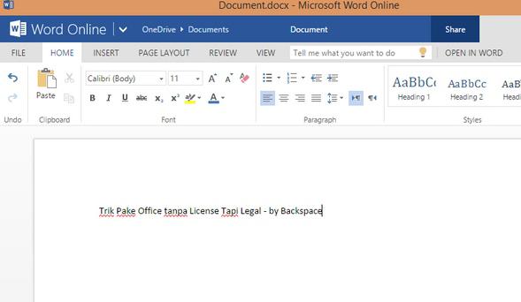 Cara Menggunakan Microsoft Office Secara Gratis dan Legal