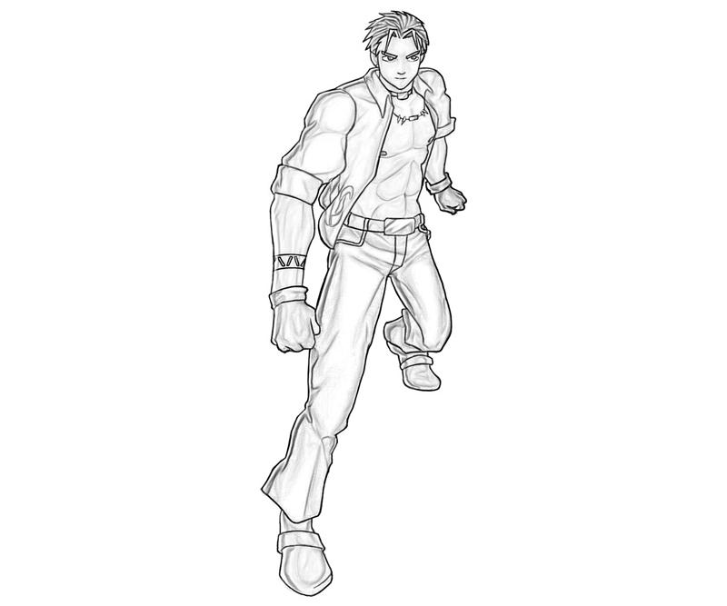 king-of-fighters-shen-woo-cute-coloring-pages