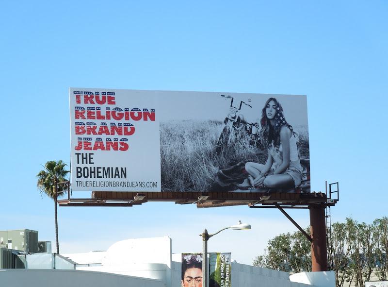 True Religion Bohemian American billboard