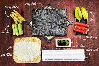 Cách làm sushi đơn giản tại nhà 1
