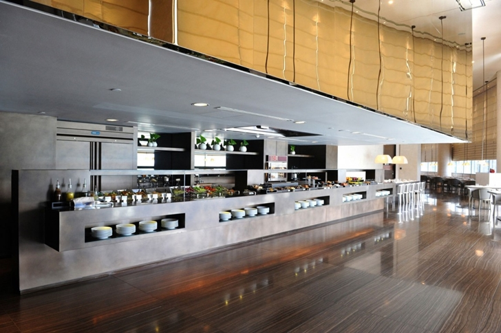 Large kitchen in Armani Burj Khalifa Hotel Dubai
