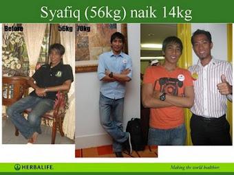 SYAFIQ BERAT BADAN NAIK 14 KG