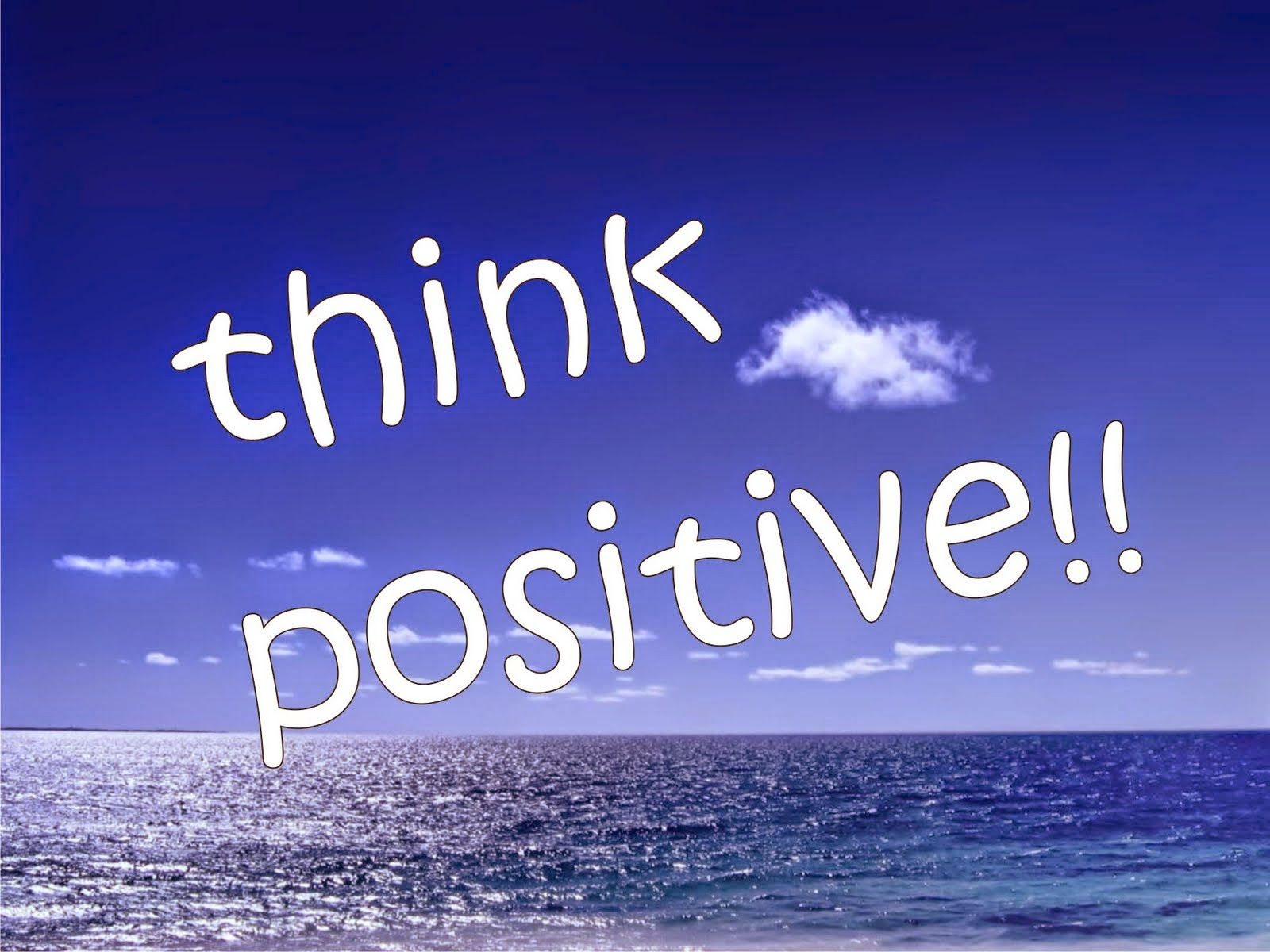 Blogger Think Positive