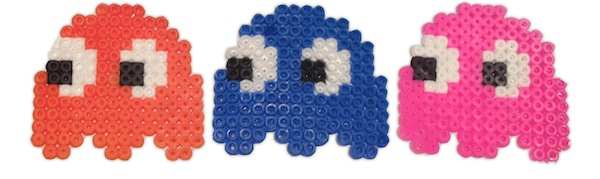 Pac Man Hama Beads Ghosts