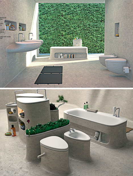 Modernos lavados de baño diseñados por Art-Tic