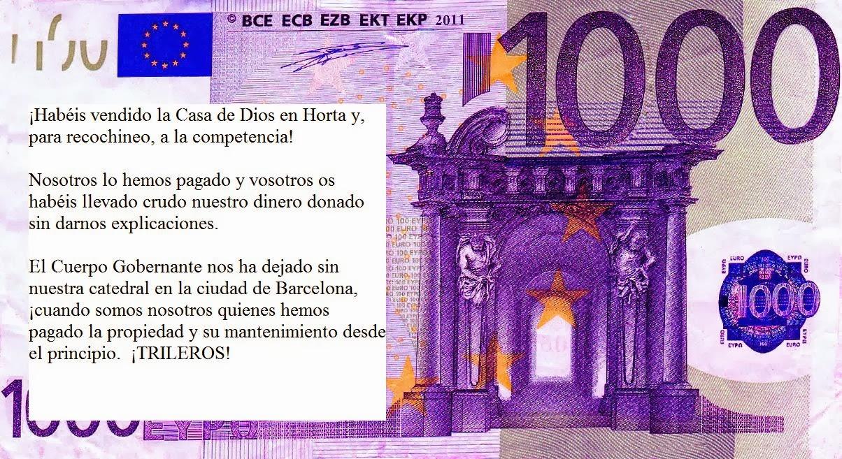 Colección billetes teocráticos y de denuncia