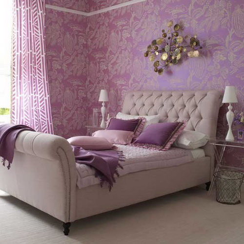 Marvelous  bedroom decoration and the ways in which you can enhance the look of your room by using the shade purple and including it in various themes and designs