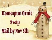 Homespun Ornie Swap