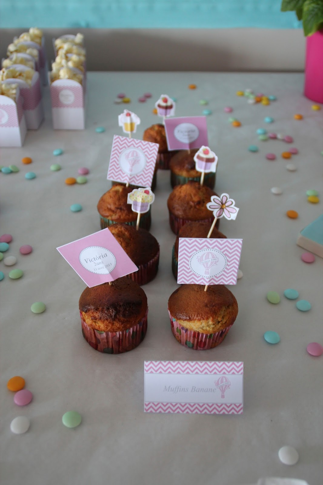 muffin et toppers rose