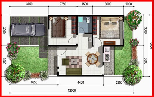 Model Rumah Minimalis Type 36 72 Raden Seo