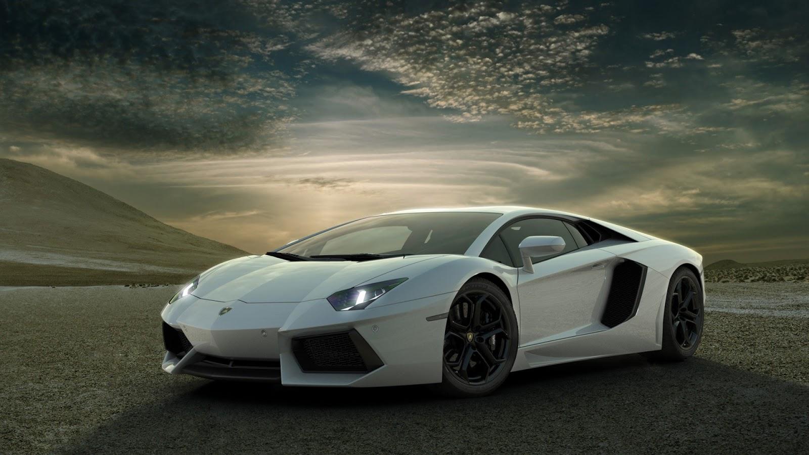 Cool White Lamborghini Wallpaper HD