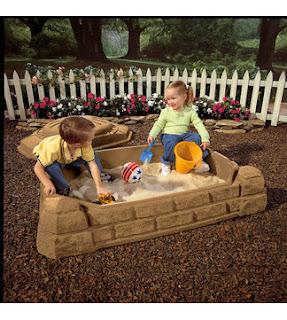 Naturally Playful 4' Rectangular Sandbox