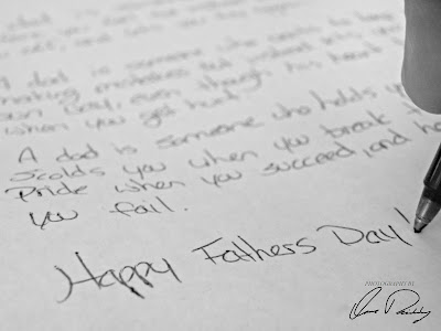 happy father's day father fathers note pen and paper writing
