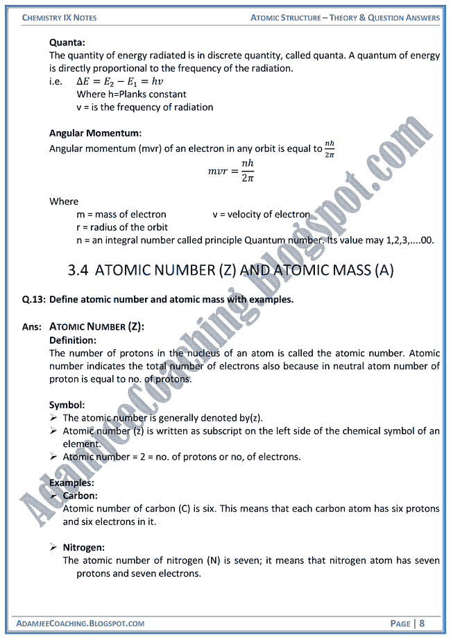 atomic-structure-theory-notes-and-question-answers-chemistry-ix