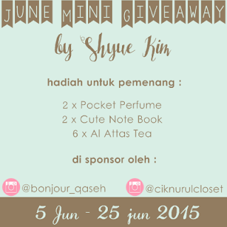June Mini Giveaway by Shyue Kim