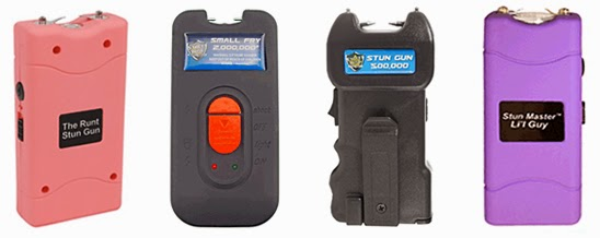 Take advantage of 4 model stun guns at WomenOnGuard.com that have the affordable price of just $17.97 and one in particular includes 10 Million Volts!