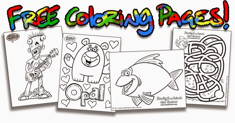 Harptoons FREE Coloring Pages