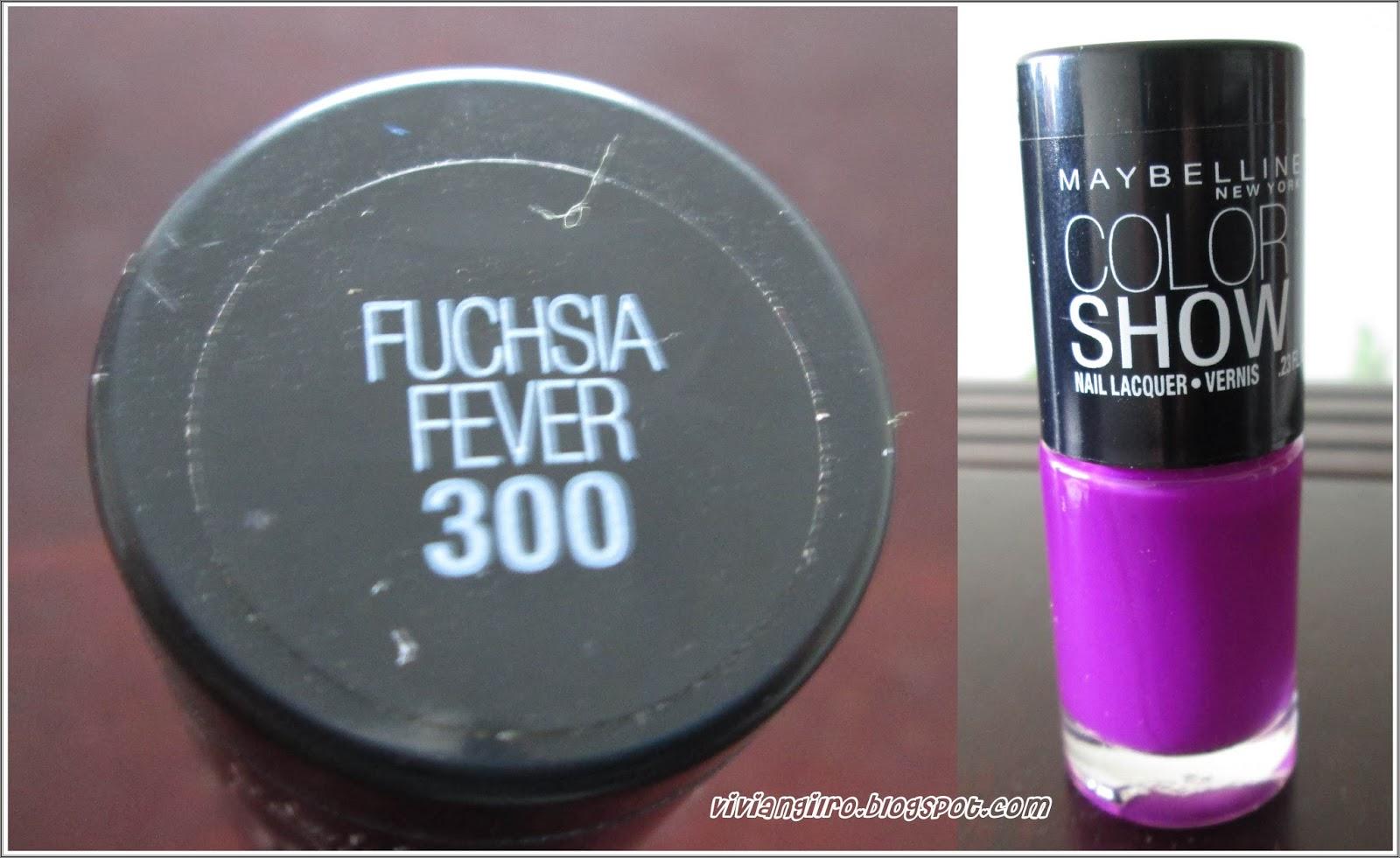 Probando el esmalte Fuchsia Fever 300 de Maybelline ~ Viviangilro