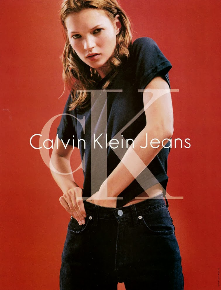 Kate Moss 90s CK Calvin Klein Jeans campaign