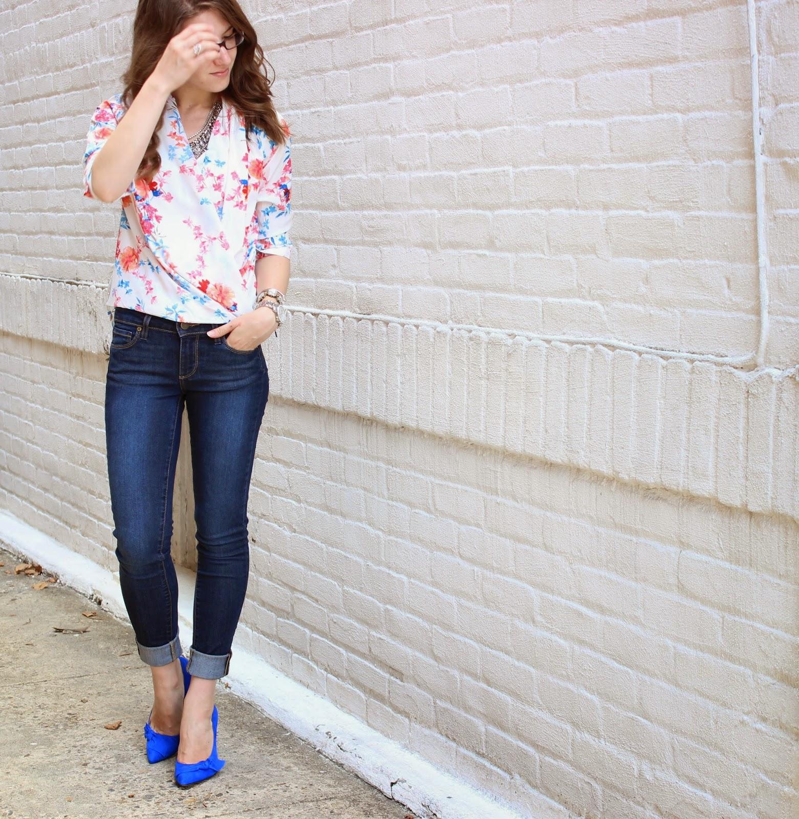 Florals + Cobalt
