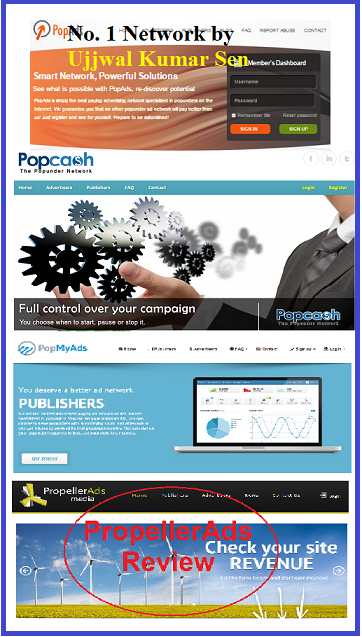 Best Pop under Pop Ads Networks, Popads, Popcash, Propellerads, Popmyads