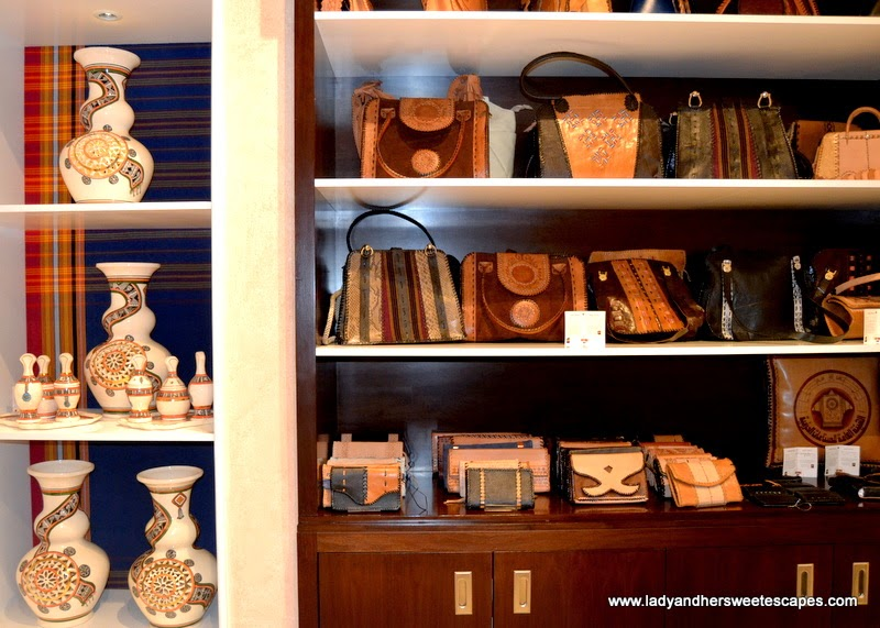 Omani handicrafts in Royal Opera House Muscat