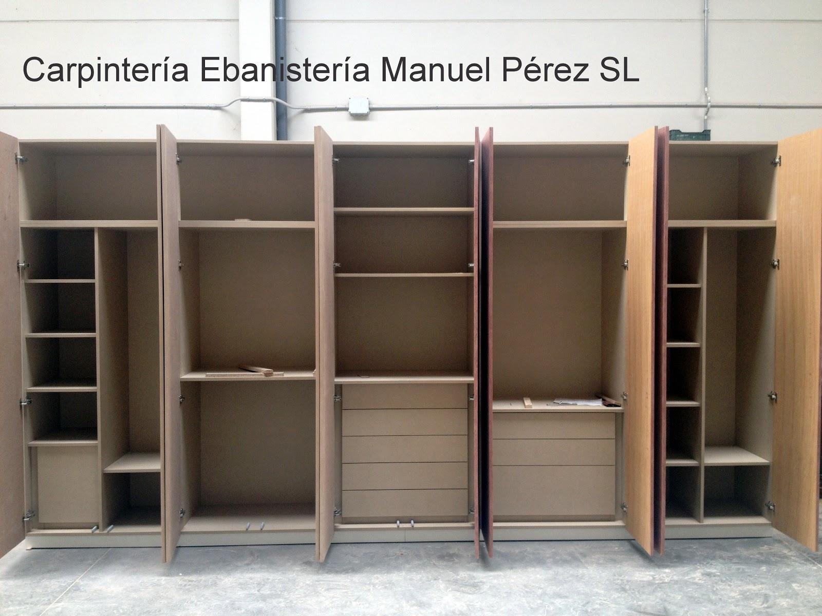 Ebanisteria carpinteria manuel perez zaragoza armario a medida en dos colores con hueco - Armarios a medida en zaragoza ...