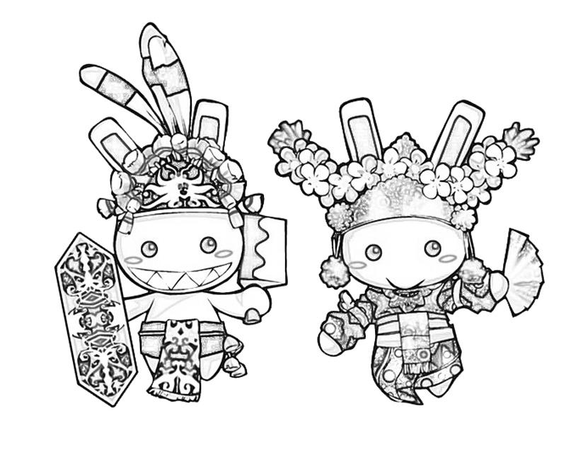 wawa-bunny-tradisional-costume-coloring-pages