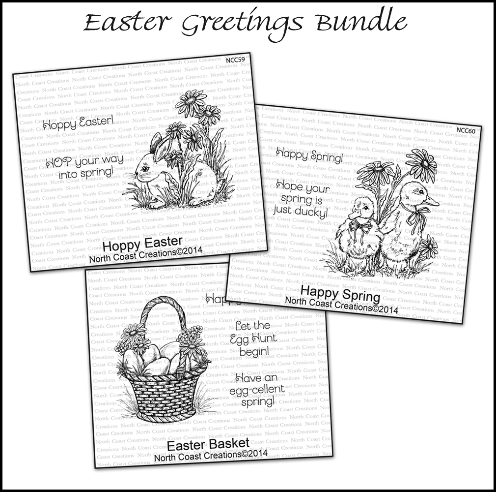 Stamps - North Coast Creations Easter Greetings Bundle
