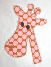Zig Zag Giraffe Applique