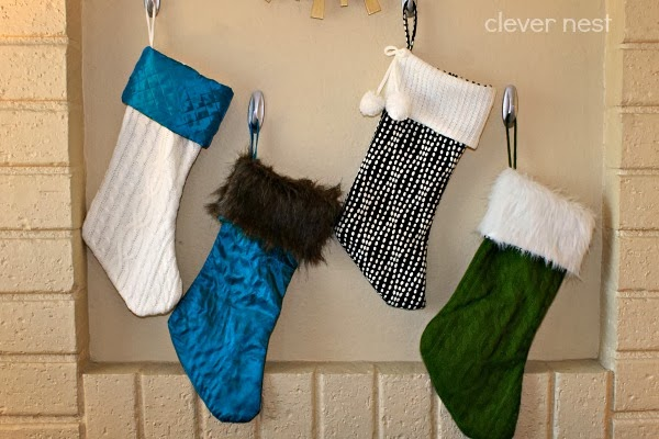 aqua, lime, white, silver christmas #fabulouslyfestive #stockings #clevernest