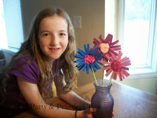 Pams party practical tips crafting with kara cardboard for Cardboard tube flowers