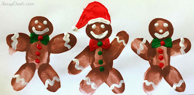 fingerprint gingerbread men craft